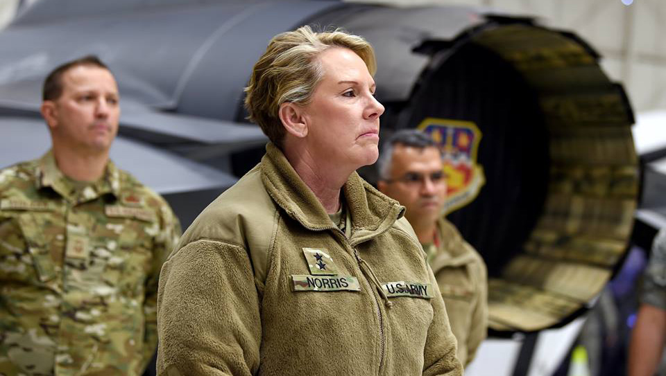 Army Maj. Gen. Tracy Norris, TAG, visits the 149th FW