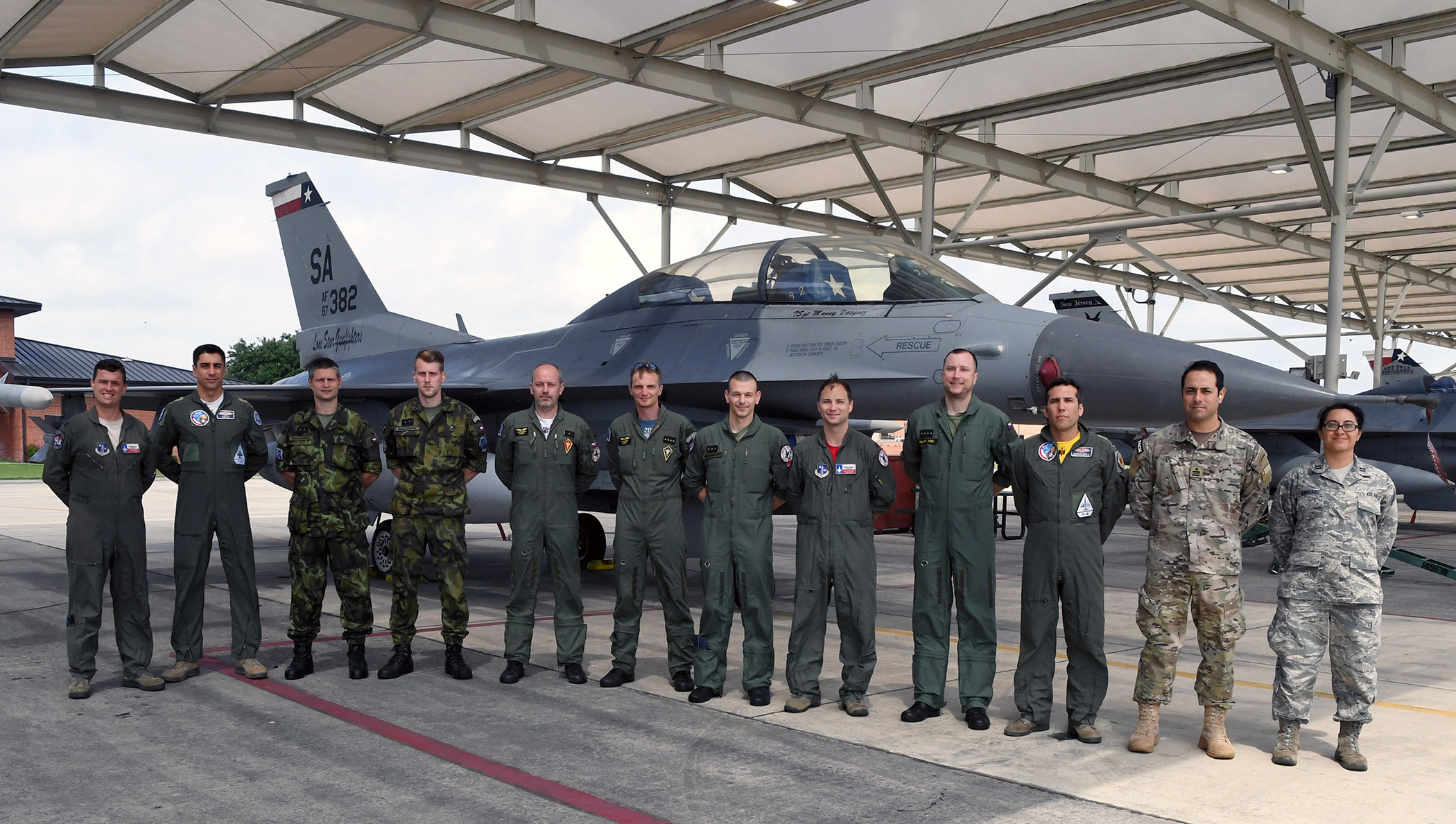 149th FW hosts members from partner nations Czech Republic, Chile